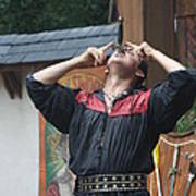 Maryland Renaissance Festival - Johnny Fox Sword Swallower - 121263 Poster by DC Photographer