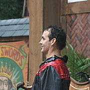 Maryland Renaissance Festival - Johnny Fox Sword Swallower - 121271 Poster by DC Photographer