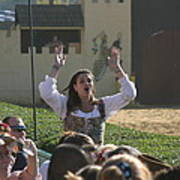 Maryland Renaissance Festival - Jousting And Sword Fighting - 1212122 Poster by DC Photographer