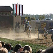 Maryland Renaissance Festival - Jousting And Sword Fighting - 1212174 Poster by DC Photographer
