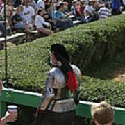 Maryland Renaissance Festival - Jousting And Sword Fighting - 1212198 Poster by DC Photographer
