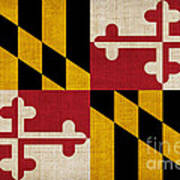 Maryland State Flag Poster by Pixel Chimp