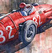 Maserati 250f J M Fangio Monaco Gp 1957 Poster by Yuriy  Shevchuk