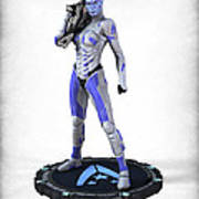 Mass Effect - Asari Alliance Soldier Poster by Frederico Borges
