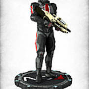 Mass Effect - N7 Soldier Poster by Frederico Borges