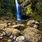 Maui Waterfall Poster by Adam Romanowicz