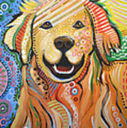 Max ... Abstract Dog Art...golden Retriever Poster by Amy Giacomelli