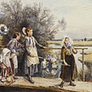 May Day Garlands Poster by Myles Birket Foster