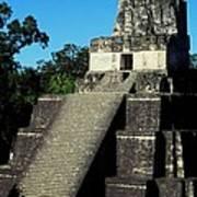 Mayan Ruins - Tikal Guatemala Poster by Juergen Weiss