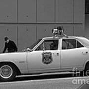 Mayberry Meets Seattle - Vintage Police Cruiser Poster by Jane Eleanor Nicholas