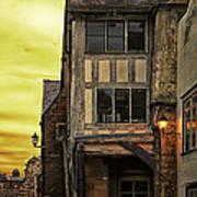 Medieval Alley Poster by Gabriela Wernicke-Marfo