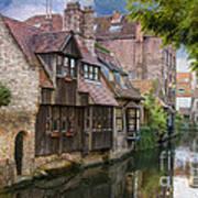 Medieval Bruges Poster by Juli Scalzi