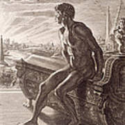 Memnon's Statue Poster by Bernard Picart