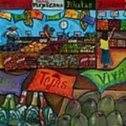 Mercado Mexicana Poster by Patti Schermerhorn