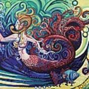 Mermaid Gargoyle Poster by Genevieve Esson
