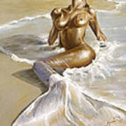 Mermaid Poster by Karina Llergo