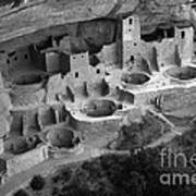Mesa Verde Monochrome Poster by Bob Christopher