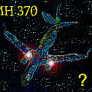 Mh 370 Mystery Poster by David Lee Thompson