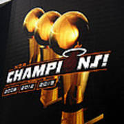 Miami Heat Aaa Championship Banner Poster by J Anthony