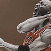 Michael Jordan - Chicago Bulls Poster by Prashant Shah