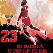 Michael Jordan Greatest Ever Poster by Israel Torres