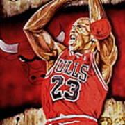 Michael Jordan Oil Painting Poster by Dan Troyer
