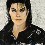 Michaeljacksoninoilpastel Poster by Lance Sheridan-Peel