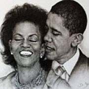 Michelle Et Barack Obama Poster by Guillaume Bruno