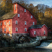 Mill - Clinton Nj - The Old Mill Poster by Mike Savad