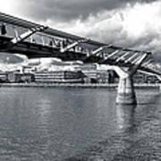 Millennium Foot Bridge - London Poster by Mark E Tisdale