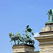 Millennium Monument In Budapest Poster by Artur Bogacki