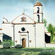 Mission San Luis Rey Colorful II Poster by Kip DeVore