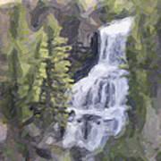Misty Falls Poster by Jo-Anne Gazo-McKim