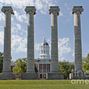 Mizzou Jesse Hall And Columns Poster by Kay Pickens