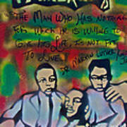Mlk Fatherhood 1  Poster by Tony B Conscious