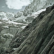 Mont Blanc Glacier Poster by Frank Tschakert