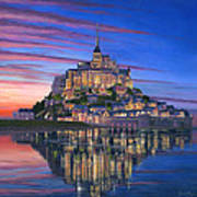 Mont Saint-michel Soir Poster by Richard Harpum