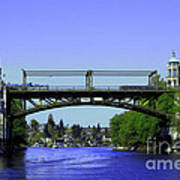 Montlake Bridge 2 Poster by Cheryl Young