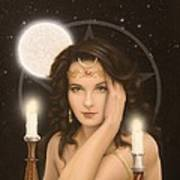 Moon Priestess Poster by John Silver
