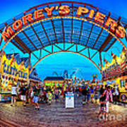 Moreys Piers In Wildwood Poster by Mark Miller