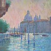 Morning Light From The Academia Bridge Poster by Jackie Simmonds