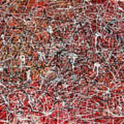 Morris Louis Meets Jackson Pollock Poster by Alexandra Jordankova