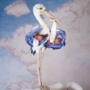 Mother Stork Poster by Anne Geddes