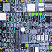 Motherboard Abstract 20130716 P38 Square Poster by Wingsdomain Art and Photography