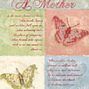 Mother's Day Butterfly Card Poster by Debbie DeWitt