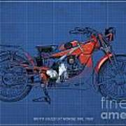 Moto Guzzi Gt Norge 500 1928 Poster by Pablo Franchi