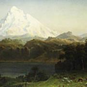 Mount Hood In Oregon Poster by Albert Bierstadt