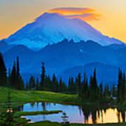 Mount Rainier Goodnight Poster by Inge Johnsson