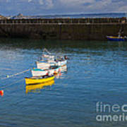 Mousehole Cornwall Poster by Louise Heusinkveld