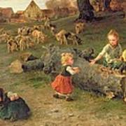 Mud Pies Poster by Ludwig Knaus